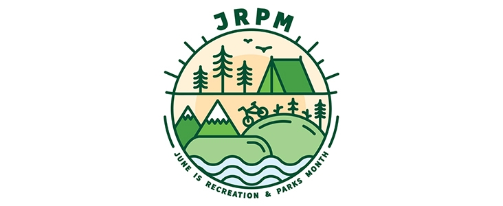 Image of June is Recreation and Parks Month Logo
