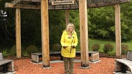 Mayor Heron standing at the Healing Garden