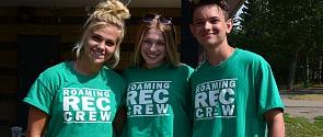 Roaming Rec Crew team at Lions Park in Saint Albert, Alberta
