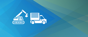 Icons depicting construction and logistics