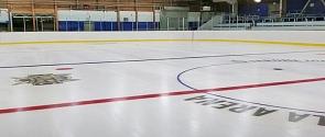 Ice surface at Jarome Iginla Arena
