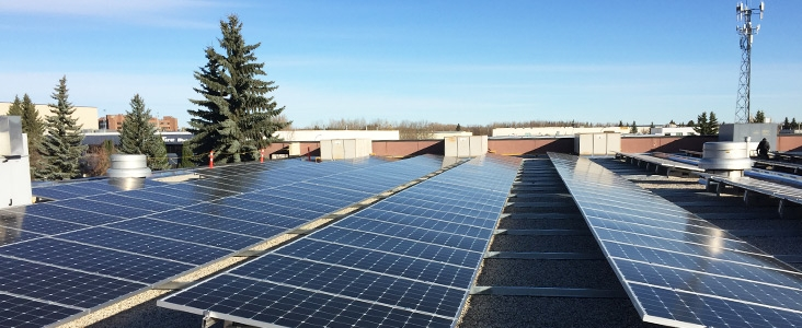 Solar Panels installed on a Transit Facility in St. Albert