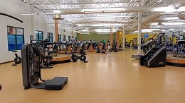 Interior shot of Tailor Made Insurance Fitness and Wellness Centre at Servus Credit Union Place