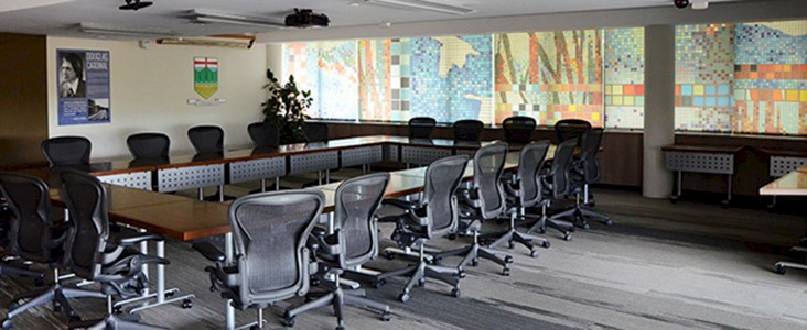 Douglas Cardinal Board Room located in St. Albert Place