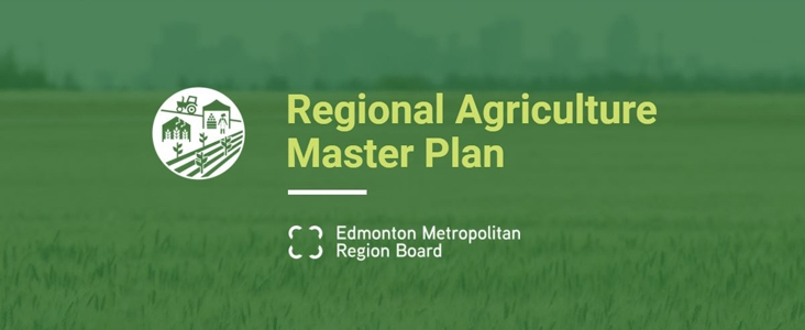 Regional Agricultural Master Plan logo overtop of a farmers field