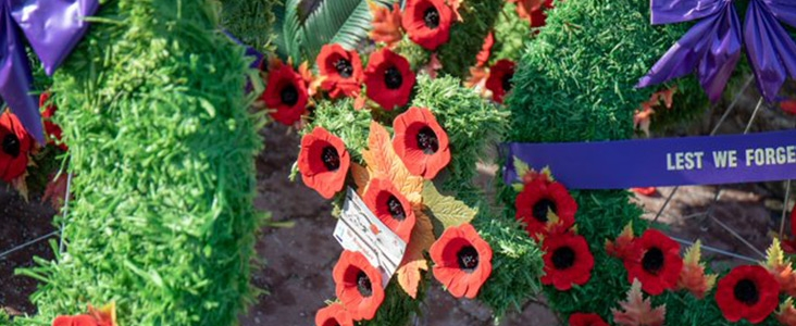 Poppies on wreaths