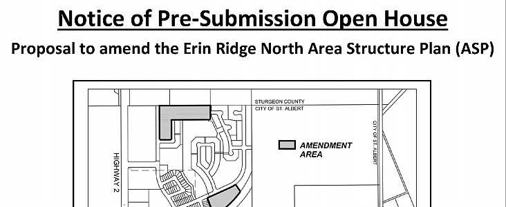 Notice of Pre-Submission Open House (Proposed ASP Amendment)