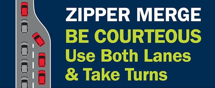Illustration of Zipper Merge