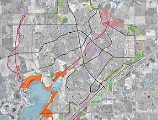 A Natural Areas assessment map from the Utilities Master Plan