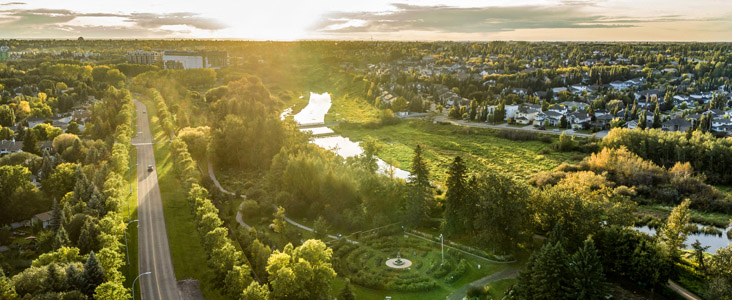 Sunset over the Botanic Gardens and the Sturgeon River Valley