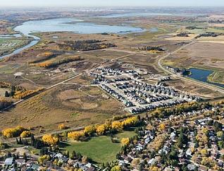Aerial view of Riverside Neighbourhood