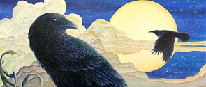 Ravens Moon by Victoria Armstrong, a resident artist at VASA