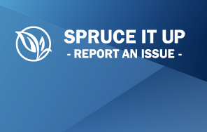 Report an Issue / Spruce It Up graphic