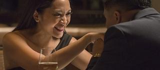 A couple share a romantic moment at a St. Albert restaurant