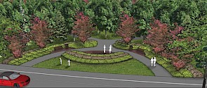 A computer rendering of what the finished park may look like