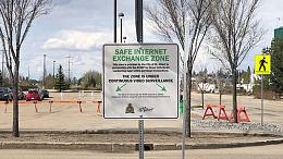 Safe Internet Exchange Zone Sign