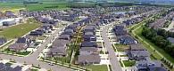 An aerial view of a new neighbourhood in Erin Ridge North