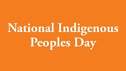 Banner with an orange background and white lettering reading National Indigenous Peoples Day
