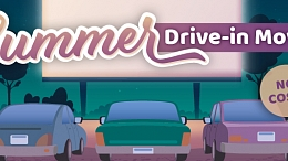 Graphic of summer drive-in movie event