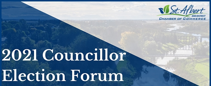 2021 Councillor Election Forum hosted by St. Albert and district chamber of commerce.