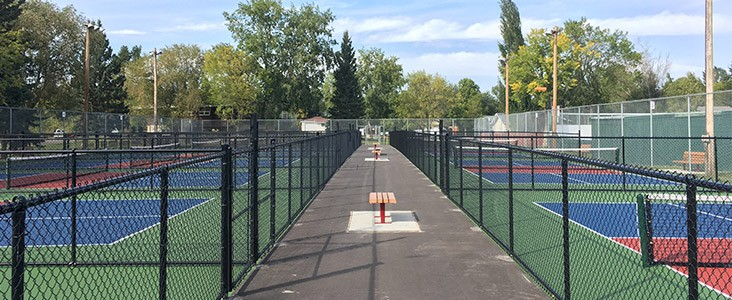 Pickleball courts at Alpine Park