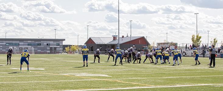 Teams playing football