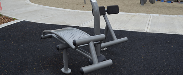 Piece of fitness equipment in a park.