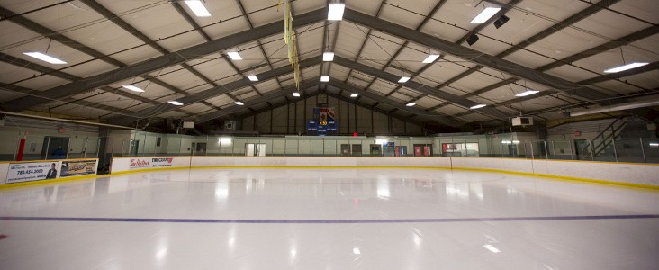 Indoor hockey arena.