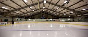 Indoor hockey arena.