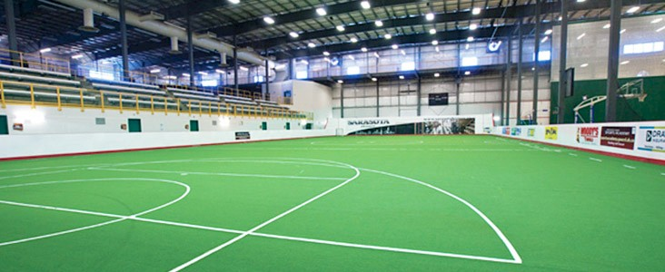 Photo of the Sarasota Homes field house at Servus Place