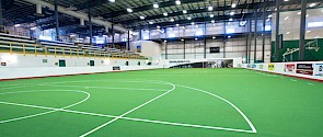 Photo of the north field house at Servus Place