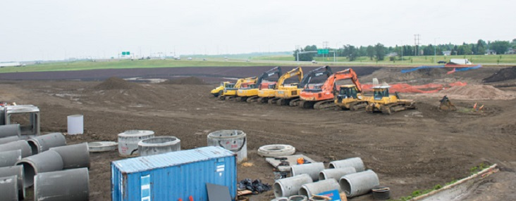 Site Servicing construction