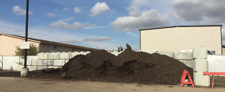 Large pile of compost.