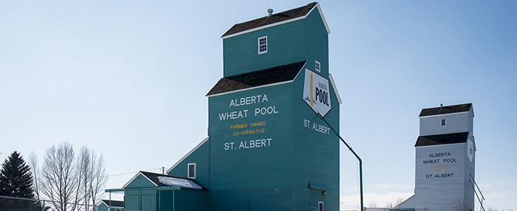 Grain Elevator Park in St. Albert