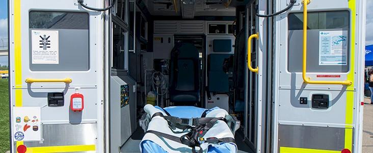 Ambulance and stretcher