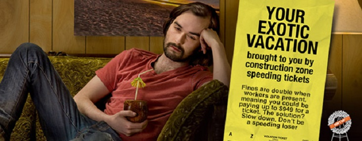 Photo of man, who looks like he is sick, sitting on a couch with a banner on the right that says Your Exotic Vacation