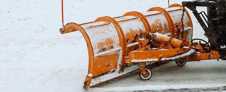 Close up photo of snow plow