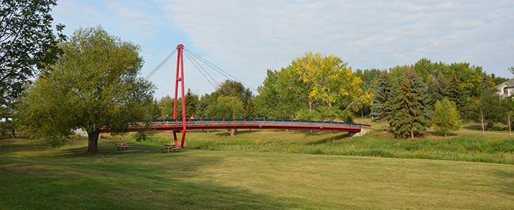 Children's Bridge on a sunny day