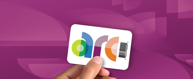 ARC Card with logo on it