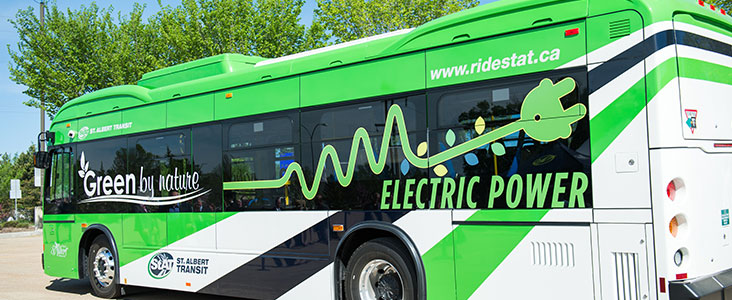 Photo of an electric bus