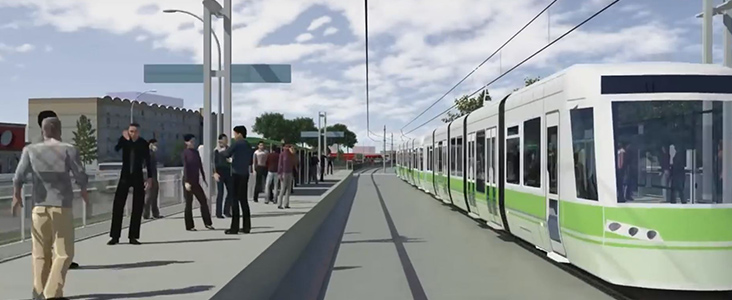 Illustration of what an LRT stop might look like