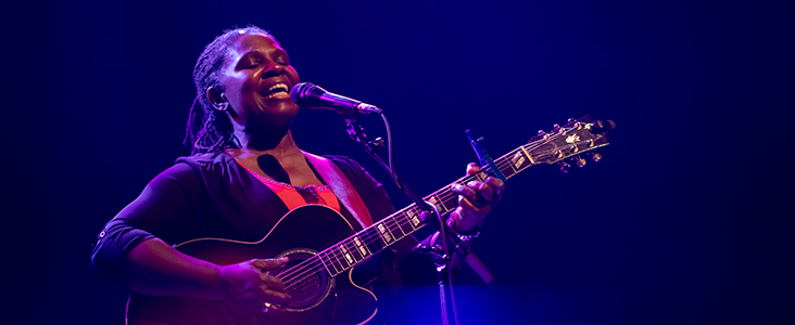 photo of Ruthie Foster (2019). Photo by Marc Chalifoux