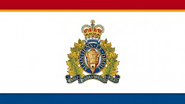 The emblem of the Royal Canadian Mounted Police or RCMP