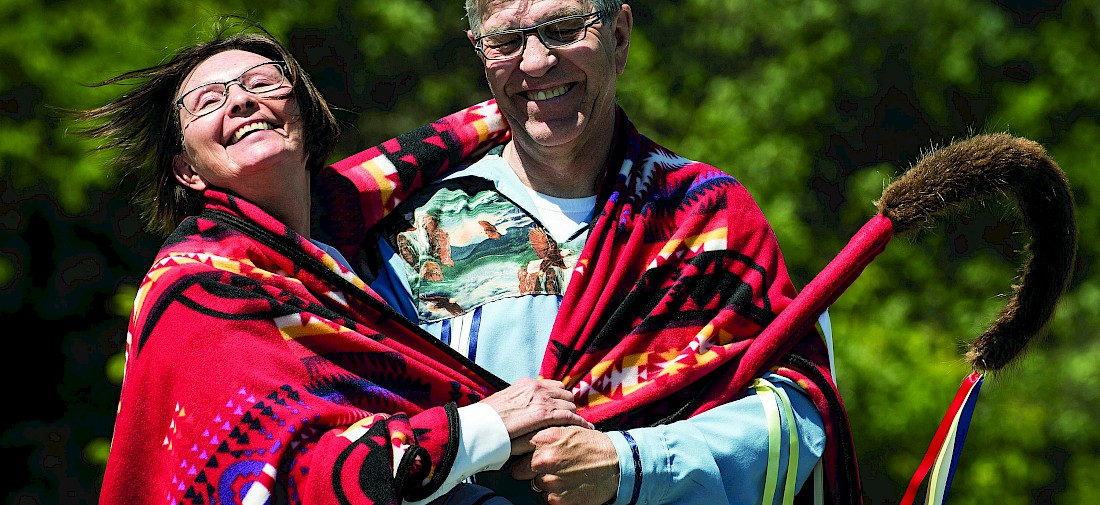 Gwen Crouse and her husband Mayor Nolan Crouse during National Aboriginal Day celebrations