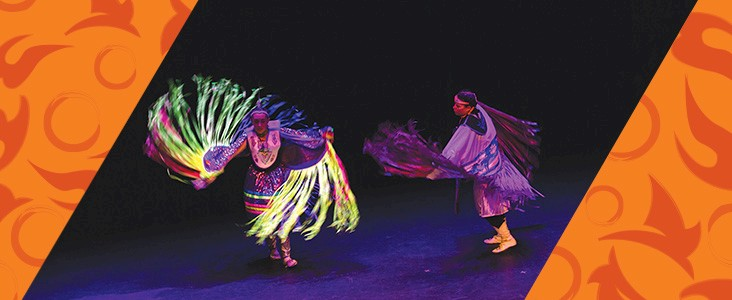 Aboriginal Dancers on stage performing