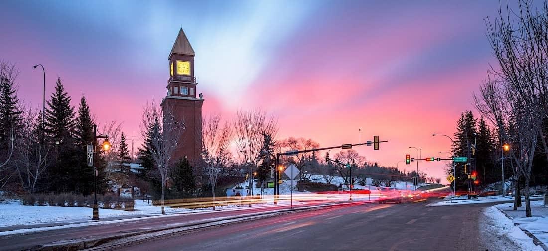 Downtown Under a Pastel Light