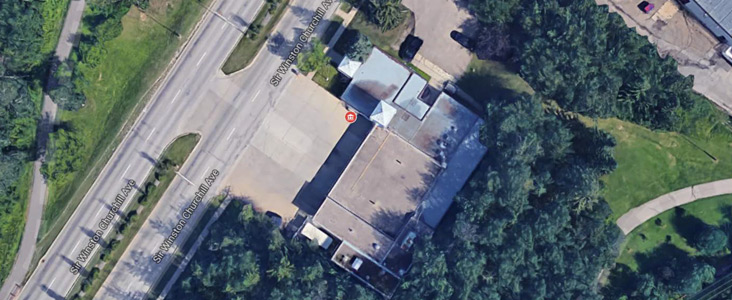 Fire Hall #1 Aerial View