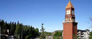 The Clock Tower in Downtown St. Albert