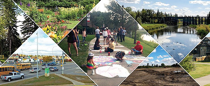A collage of outdoor scenes and activities