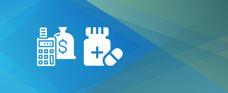 Icons depicting accounting and health-related services